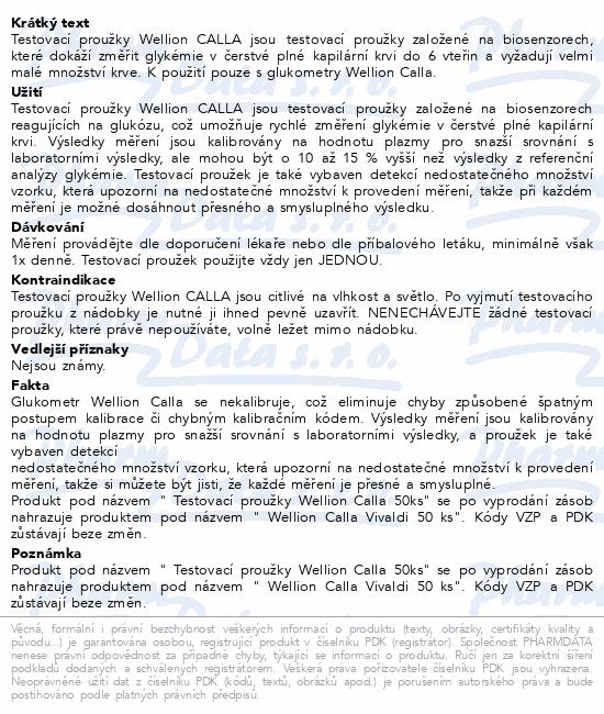 Informace o produktu Testovací proužky Wellion Calla 50ks (Vivaldi)