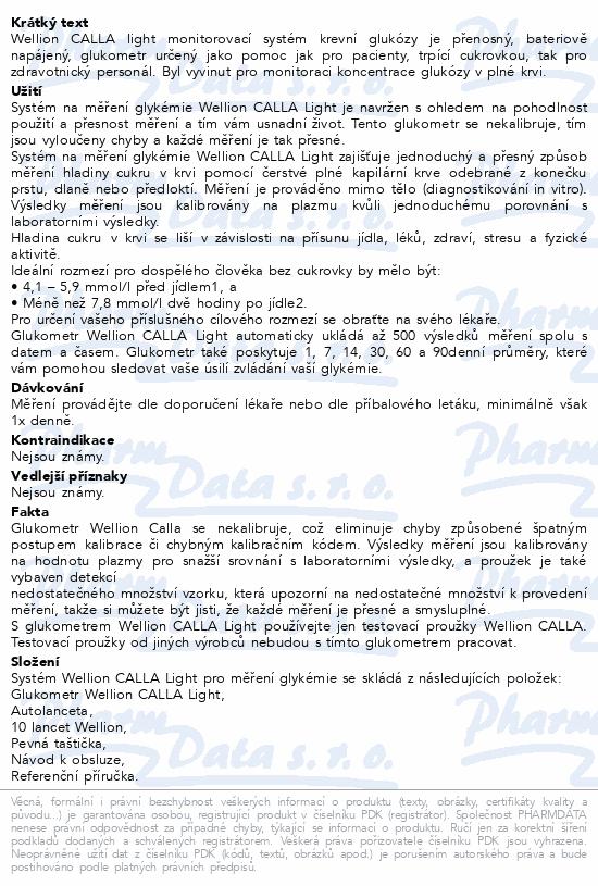 Informace o produktu Glukometr Wellion CALLA LIGHT - set/červená