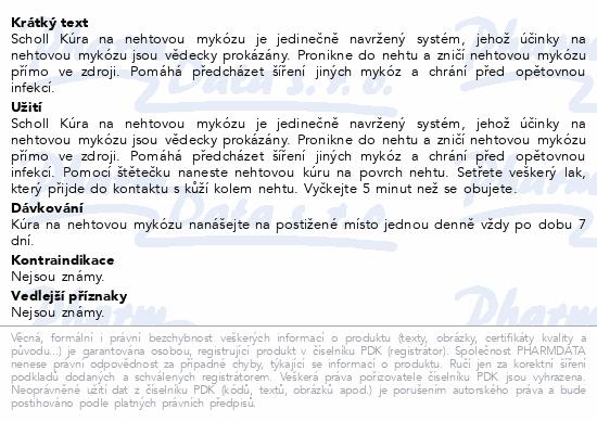 Informace o produktu SCHOLL Kúra na nehtovou mykózu 3.8ml