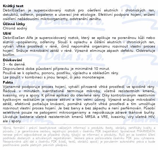 Informace o produktu DebriEcaSan Alfa roztok 5l