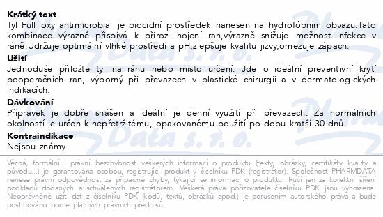 Informace o produktu Krytí na rány Tyl Full oxy antimicr. 10x10cm/1ks