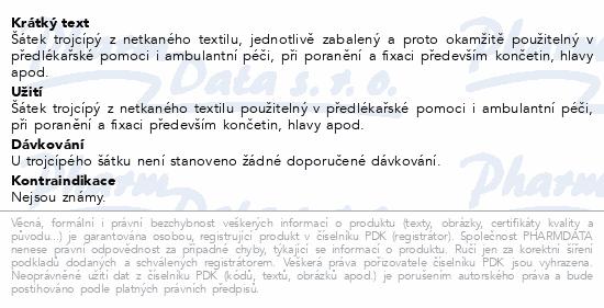 Informace o produktu Šátek trojcípý netkaný 960x1360x960mm Steriwund