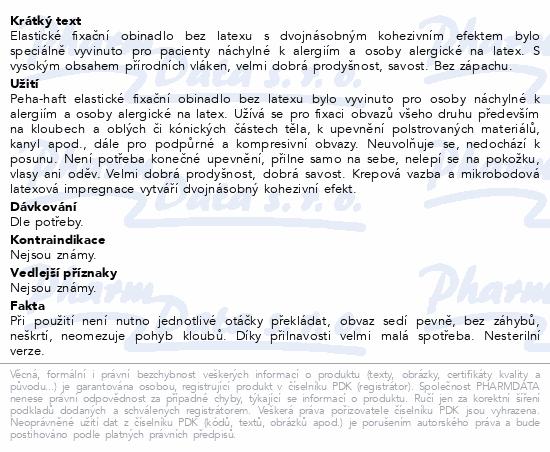 Informace o produktu Obin. fixační kohes.PEHA-HAFT Latex free 8cmx4m