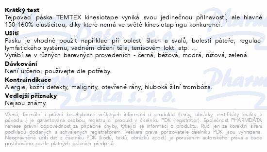 Informace o produktu Tejp. TEMTEX kinesio tape černá 5cmx5m