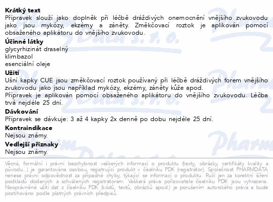 Informace o produktu CUE ušní kapky 15ml