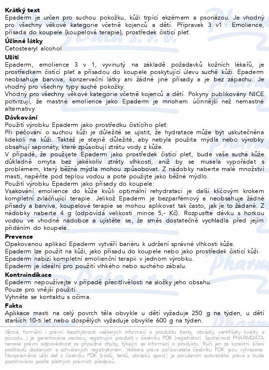 Informace o produktu Epaderm ointment 125 g