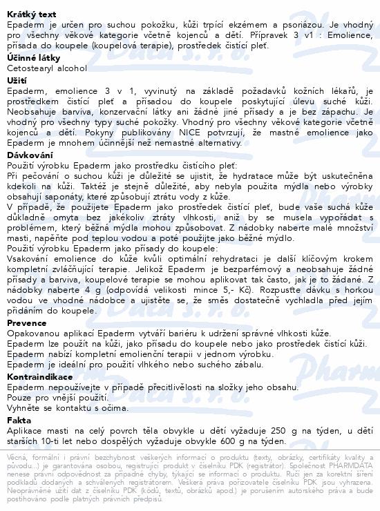 Informace o produktu Epaderm ointment 500 g