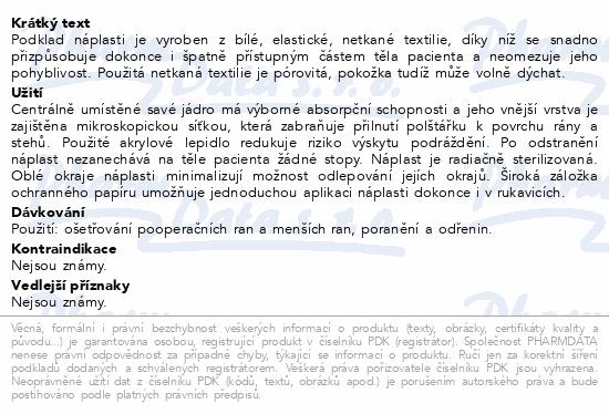 Informace o produktu Fixopore S sterilní náplast 10x20cm 50ks