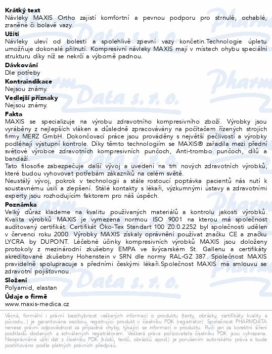 Informace o produktu Maxis kotníkový návlek III.vel.5 tělová