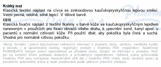 Informace o produktu 3M Spofaplast Náplast cívková text.132SB 2.5cmx5m