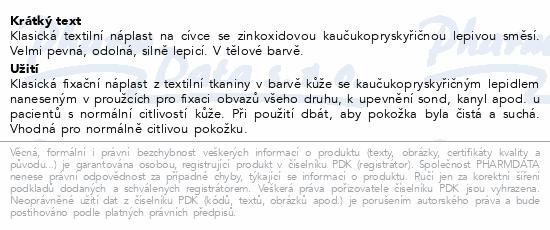 Informace o produktu 3M Spofaplast Náplast cívková text.134SB 5cmx5m