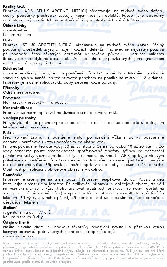 Informace o produktu Lapis Tyčinka na bradavice