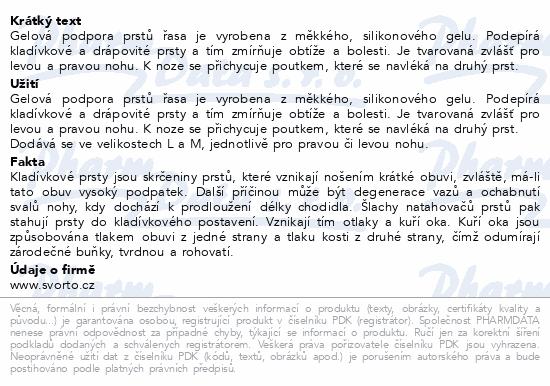 Informace o produktu svorto 103 Gel. podpora prstů řasa 34-40 (M Levá)
