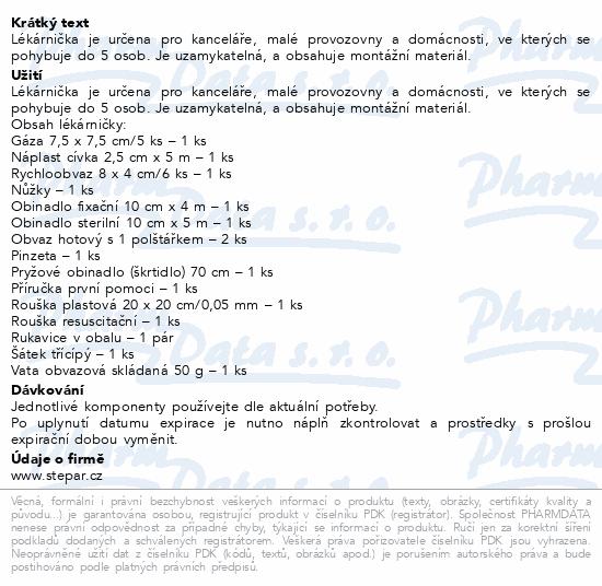 Informace o produktu Lékárnička - bílá dřevěná s náplní do 5 osob-ZM 05