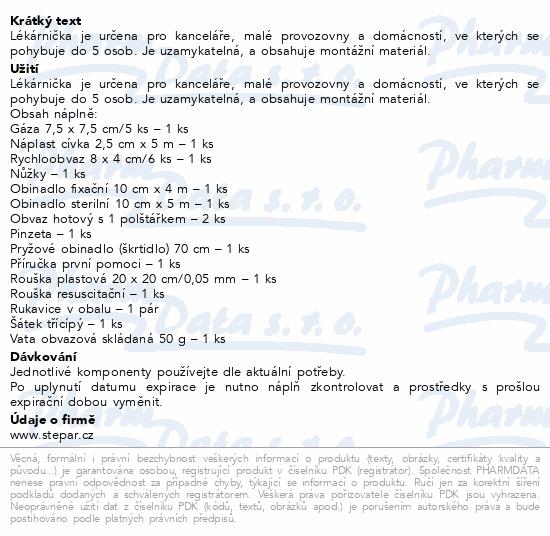 Informace o produktu Lékárnička - dřevěná s náplní do 5 osob-ZM 05