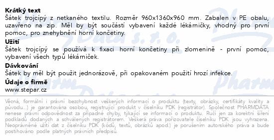 Informace o produktu Šátek trojcípý - velikost 960x1360x960mm netkaný
