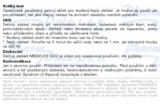 Informace o produktu MEDIFLEX-gelový studený a teplý obklad 14x18cm