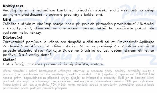 Informace o produktu Fytofontana ViroStop ústní sprej 30ml