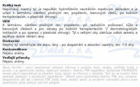 Informace o produktu Krytí sterilní-mastný tyl 20x27cm/5ks Steriwund