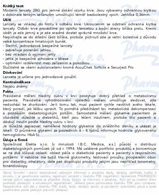 Informace o produktu Lancety Wellion 100ks - 28G