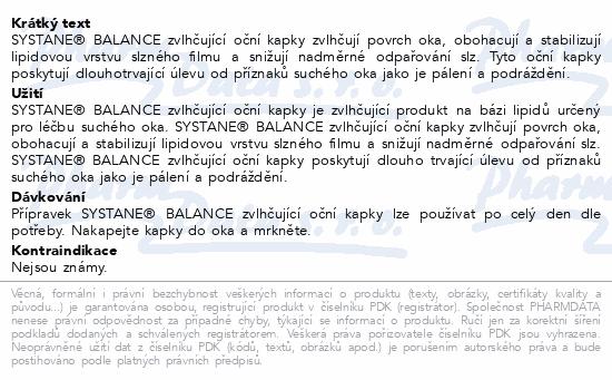 Informace o produktu SYSTANE BALANCE oční kapky gtt.10ml