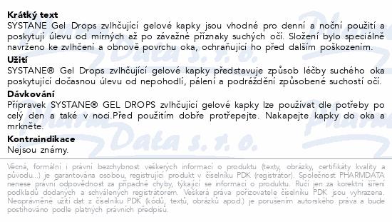 Informace o produktu SYSTANE Gel Drops oční kapky gtt. 10ml