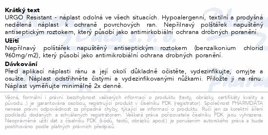 Informace o produktu URGO RESISTANT Odolná náplast 1mx6cm
