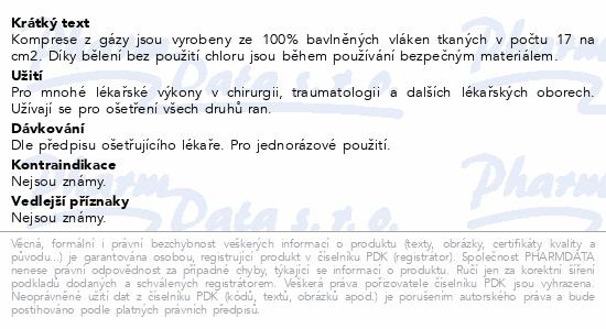 Informace o produktu Matocomp komprese z gázy 7.5x7.5cm 100ks