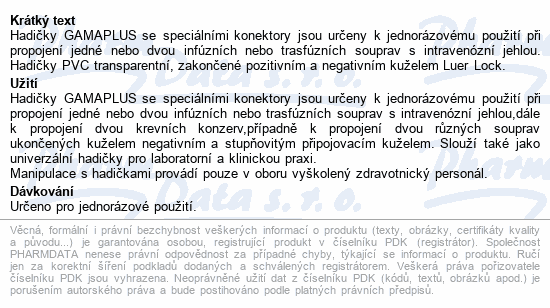 Informace o produktu GAMAPLUS 1.8x450 UNIV
