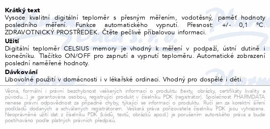 Informace o produktu Teploměr Digital CELSIUS memory