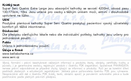 Informace o produktu Seni Super Quatro Extra Large 10ks ink. plen.kalh.