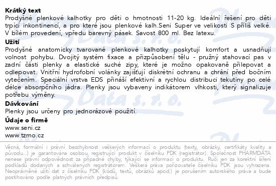 Informace o produktu Seni Kids Junior plenkové kalhotky 11-20kg 30ks