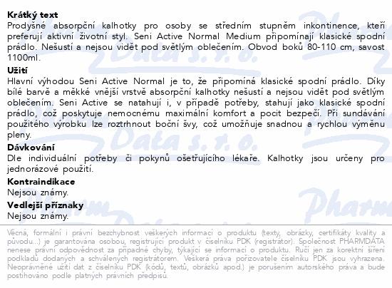Informace o produktu Seni Active Normal Medium 10ks ink. plenk.kalhotky