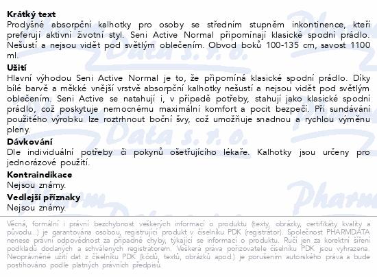 Informace o produktu Seni Active Normal Large 10ks ink. plenk. kalhotky