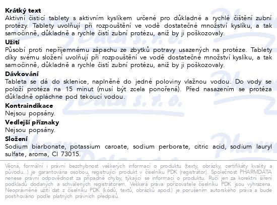 Informace o produktu Protefix Aktivní čistící tab.na zub.protézu tbl.66