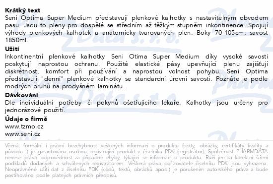 Informace o produktu Seni Optima Super Medium ink.plenk.kalhotky 10ks