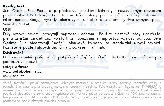 Informace o produktu Seni Optima Plus Extra Large inkon.plenk.kalh.10ks
