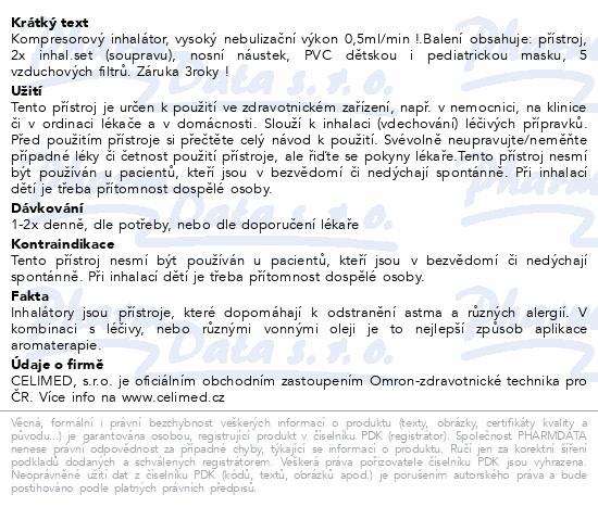 Informace o produktu Inhalátor kompr.OMRON C28P +druhá inh.soupr.NAVÍC