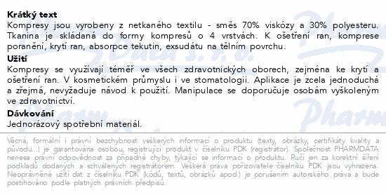 Informace o produktu Kompres netk.text.nest.5x5cm/100ks Steriwund