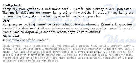 Informace o produktu Kompres netk.text.nest.7.5x7.5cm/100ks Steriwund