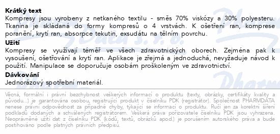 Informace o produktu Kompres netk.text.nest.10x20cm/100ks Steriwund