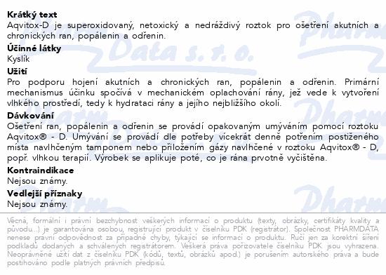 Informace o produktu Aqvitox D roztok s rozprašovačem 500 ml