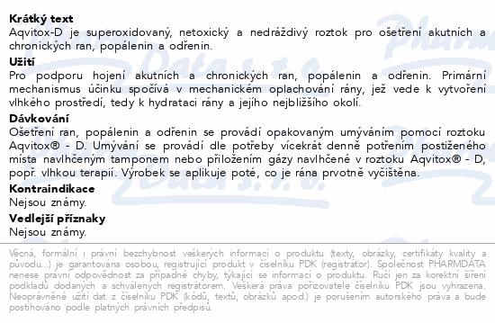 Informace o produktu Aqvitox D roztok 500 ml