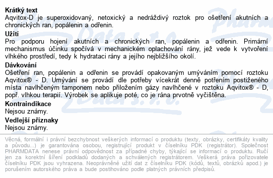Informace o produktu Aqvitox D 5 litrů