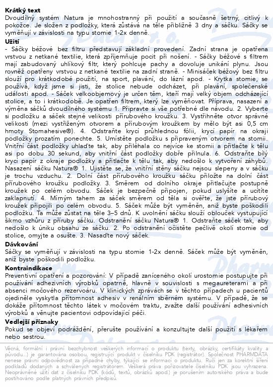 Informace o produktu Sáček 2D uzavřený NATURA+ béž.57mm STD filtr 30ks