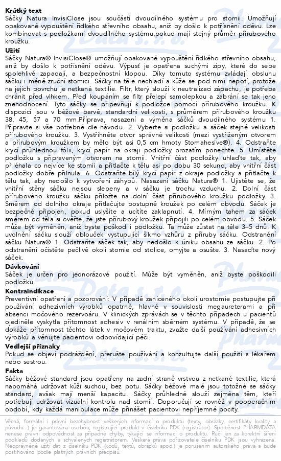 Informace o produktu Sáček 2D výp.NATURA+ Invis.béž.70mm STD filtr10ks
