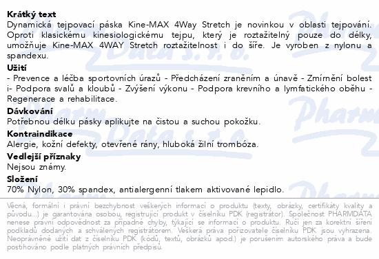 Informace o produktu KineMAX 4Way kinesiology tape modrá 5cmx5m