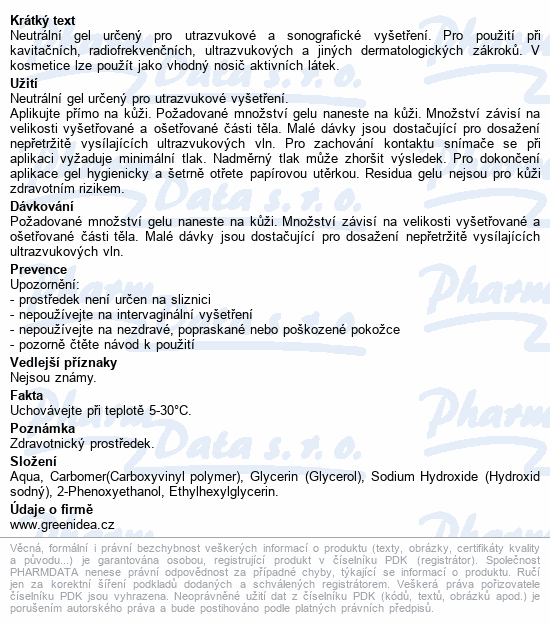 Informace o produktu Indiferentní gel TOPVET pro univerz.použití 600ml
