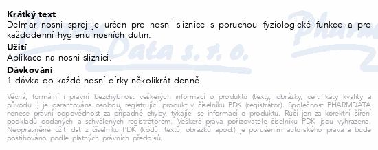 Informace o produktu Delmar nosní sprej 50ml