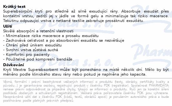 Informace o produktu Krytí Mextra Superabsorbent 10x10cm 10ks